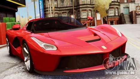 Ferrari LaFerrari Spider pour GTA 4 Vue arrière de la gauche