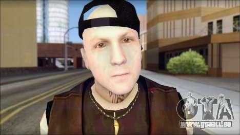 Benji from Good Charlotte pour GTA San Andreas troisième écran