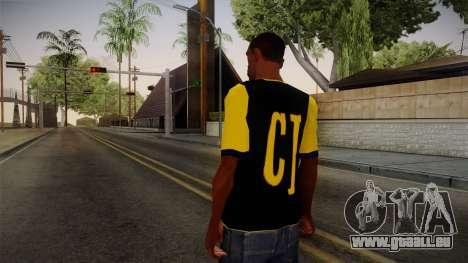 Black & Yellow T-Shirt pour GTA San Andreas deuxième écran