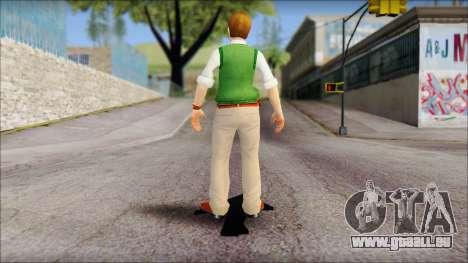 Earnest from Bully Scholarship Edition pour GTA San Andreas troisième écran