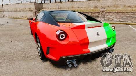 Ferrari 599 GTO PJ4 pour GTA 4 Vue arrière de la gauche