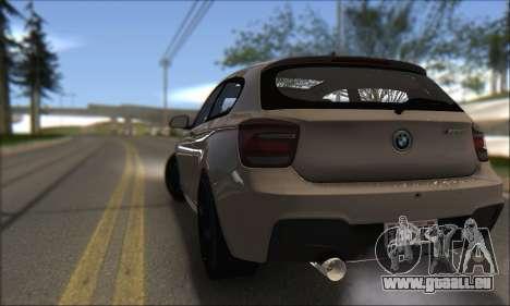 BMW M135i pour GTA San Andreas sur la vue arrière gauche