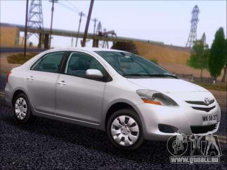 Toyota Yaris 2008 Sedan pour GTA San Andreas vue de côté
