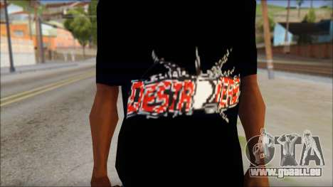 Destroyers T-Shirt Mod für GTA San Andreas dritten Screenshot