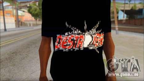 Destroyers T-Shirt Mod für GTA San Andreas dritten Screenshot
