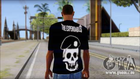 The Expendables Fan T-Shirt v1 für GTA San Andreas zweiten Screenshot