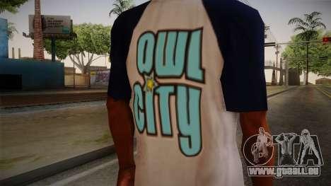 Owl City T-Shirt pour GTA San Andreas troisième écran