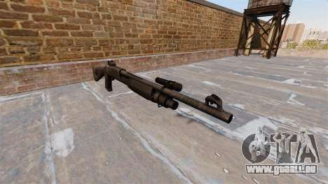 Ружье Benelli M3 Super 90 kryptek typhon pour GTA 4