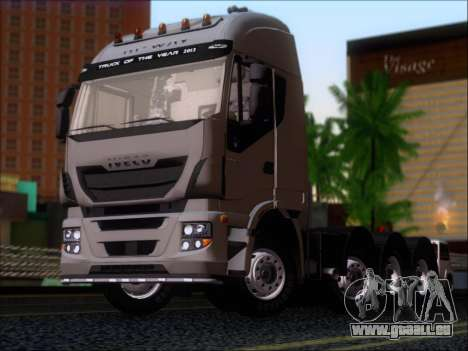Iveco Stralis HiWay 560 E6 8x4 für GTA San Andreas linke Ansicht