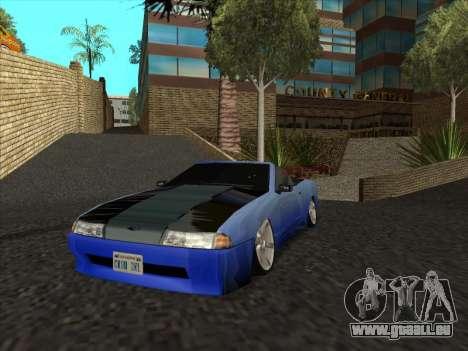 Elegy Cabrio HD pour GTA San Andreas vue arrière