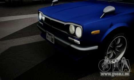 Nissan Skyline GC10 2000GT für GTA San Andreas Unteransicht
