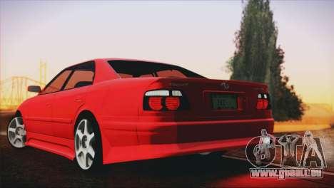 Toyota Chaser Tourer Stock V2.5 1999 pour GTA San Andreas laissé vue