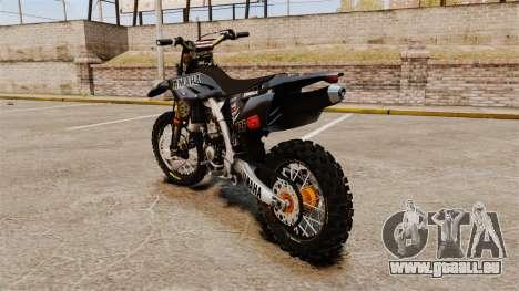 Yamaha YZF-450 v1.2 pour GTA 4 Vue arrière de la gauche
