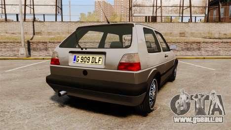Volkswagen Golf GTI Mk2 für GTA 4 hinten links Ansicht