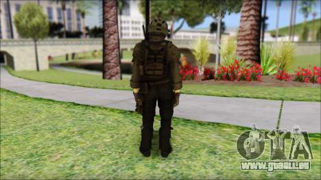 Roach Anderson in Dark Suit from MW2 für GTA San Andreas zweiten Screenshot