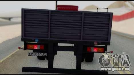Semi-remorque MAZ 93866 pour GTA San Andreas sur la vue arrière gauche