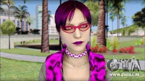 Rock Chicks Purple Ped pour GTA San Andreas troisième écran