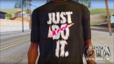 Just Do It NIKE Shirt für GTA San Andreas dritten Screenshot