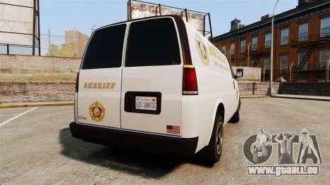 Vapid Speedo Los Santos County Sheriff [ELS] pour GTA 4 Vue arrière de la gauche