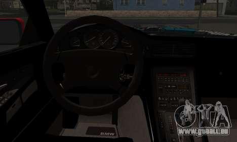 BMW M8 Custom für GTA San Andreas zurück linke Ansicht