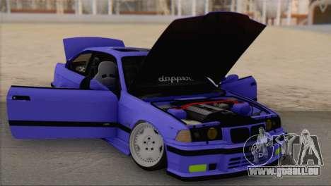 BMW M3 E36 Coupe Slammed pour GTA San Andreas vue de droite
