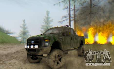 Ford F-250 Camo Lifted 2010 pour GTA San Andreas