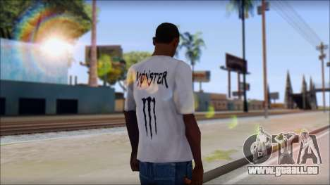 Monster Black And White T-Shirt für GTA San Andreas zweiten Screenshot