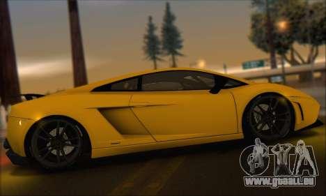 Lamborghini Gallardo LP570 Superleggera für GTA San Andreas Unteransicht