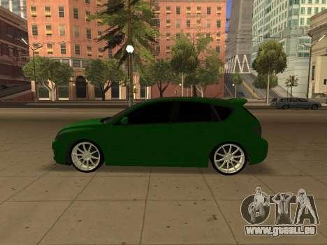 Mazda 3 für GTA San Andreas rechten Ansicht