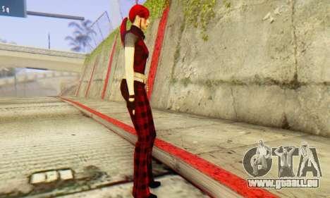 Red Girl Skin für GTA San Andreas zweiten Screenshot