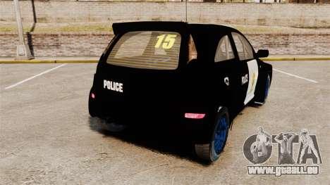 Opel Corsa Police für GTA 4 hinten links Ansicht