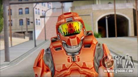 Masterchief Red from Halo pour GTA San Andreas troisième écran