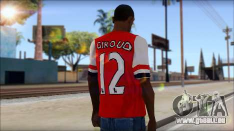 Arsenal FC Giroud T-Shirt für GTA San Andreas zweiten Screenshot