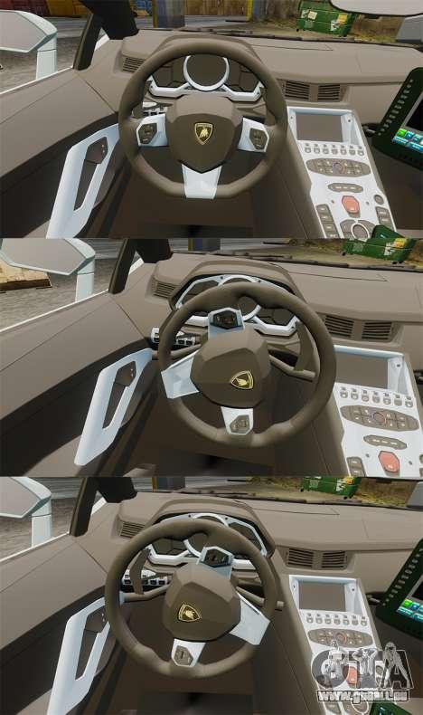 Lamborghini Aventador LP700-4 v2 [RIV] pour GTA 4 est une vue de l'intérieur