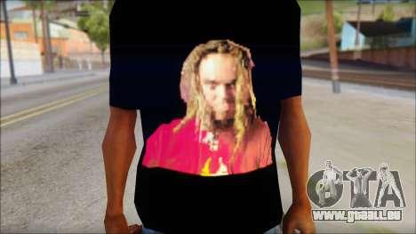 Max Cavalera T-Shirt v2 pour GTA San Andreas troisième écran