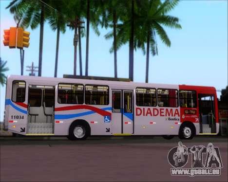 Comil Svelto 2008 Volksbus 17-2 Benfica Diadema für GTA San Andreas Innenansicht