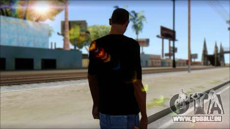 Skull T-Shirt Black für GTA San Andreas zweiten Screenshot