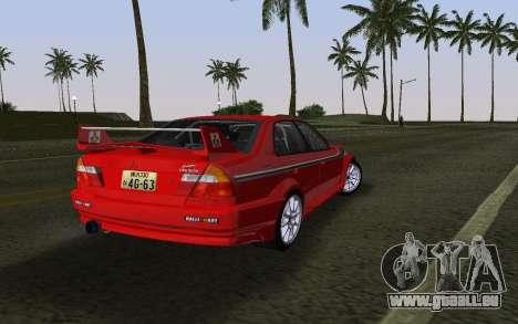 Mitsubishi Lancer Evolution 6 Tommy Makinen Edit pour une vue GTA Vice City de la gauche