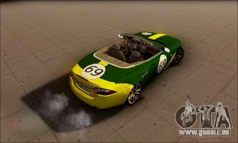 Jaguar XK 2007 für GTA San Andreas rechten Ansicht