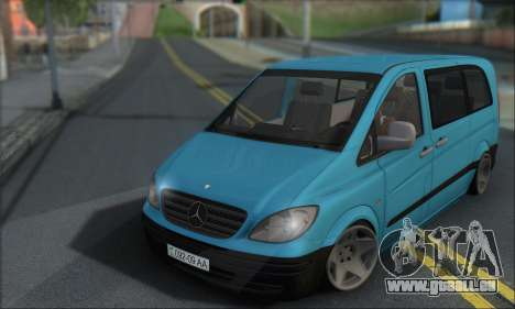 Mercedes-Benz 115 CDI Vito 2007 Stance pour GTA San Andreas laissé vue