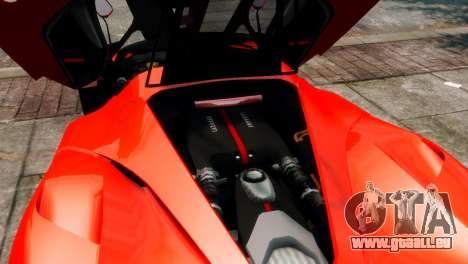 Ferrari LaFerrari pour GTA 4 vue de dessus