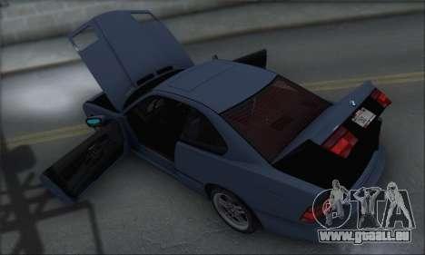 BMW E31 850CSi 1996 für GTA San Andreas obere Ansicht
