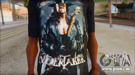 Undertaker T-Shirt v2 pour GTA San Andreas troisième écran