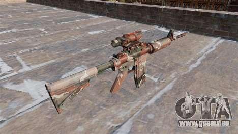 Automatique carabine MA Forêt Camo pour GTA 4 secondes d'écran