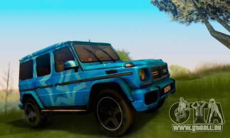 Mercedes-Benz G65 Blue Star für GTA San Andreas rechten Ansicht