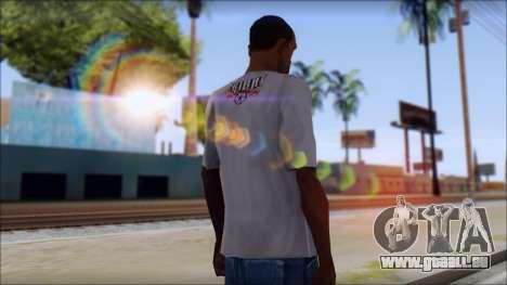 Tribal tee Mouse Inked White T-Shirt für GTA San Andreas zweiten Screenshot