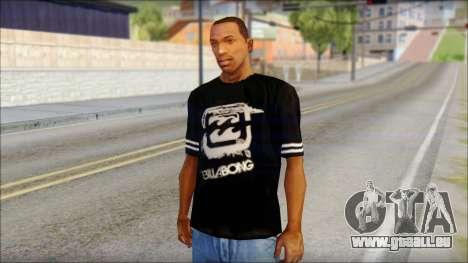 Billabong T-Shirt Black für GTA San Andreas