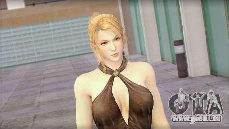 Sarah from Dead or Alive 5 v3 pour GTA San Andreas troisième écran