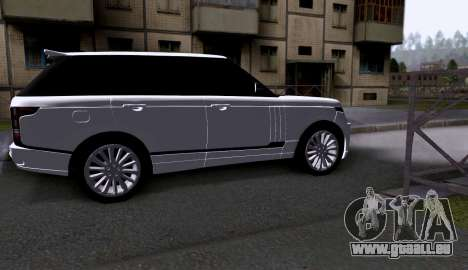Land Rover Range Rover Startech pour GTA San Andreas sur la vue arrière gauche