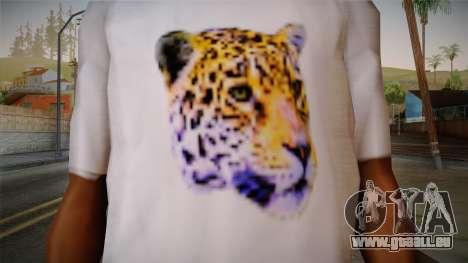 Leopard Shirt White pour GTA San Andreas troisième écran
